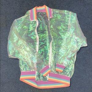Sheer Iridescent Jacket